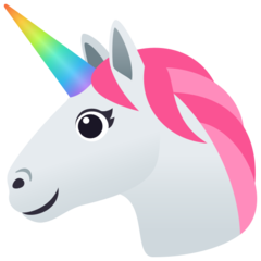 How Unicorn emoji looks on Joypixels.