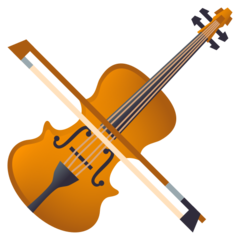 How Violin emoji looks on Joypixels.