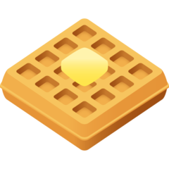 How Waffle emoji looks on Joypixels.