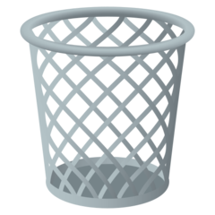 How Wastebasket emoji looks on Joypixels.