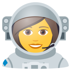 How Woman Astronaut emoji looks on Joypixels.