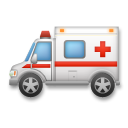 How Ambulance emoji looks on Lg.