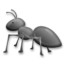How Ant emoji looks on Lg.