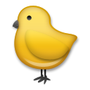 How Baby Chick emoji looks on Lg.