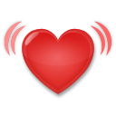 How Beating Heart emoji looks on Lg.