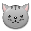 How Cat Face emoji looks on Lg.