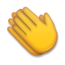 How Clapping Hands emoji looks on Lg.