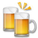 How Clinking Beer Mugs emoji looks on Lg.