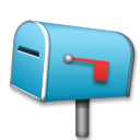 How Closed Mailbox with Lowered Flag emoji looks on Lg.