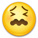 How Confounded Face emoji looks on Lg.