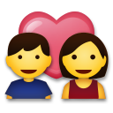 How Couple with Heart emoji looks on Lg.