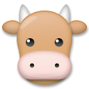 How Cow Face emoji looks on Lg.