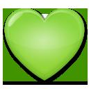 緑のハート 絵文字