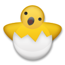 How Hatching Chick emoji looks on Lg.