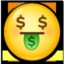 お金の顔 絵文字