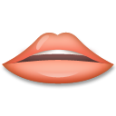 How Mouth emoji looks on Lg.
