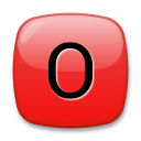 How O Button (Blood Type) emoji looks on Lg.