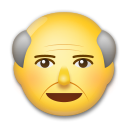 How Old Man emoji looks on Lg.