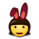 How People with Bunny Ears emoji looks on Lg.
