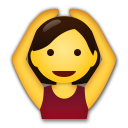 How Person Gesturing Ok emoji looks on Lg.