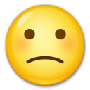 How Slightly Frowning Face emoji looks on Lg.