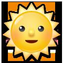 顔のある太陽 絵文字