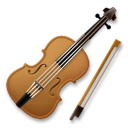 How Violin emoji looks on Lg.