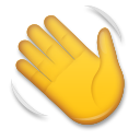How Waving Hand emoji looks on Lg.