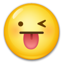 How Winking Face with Tongue emoji looks on Lg.