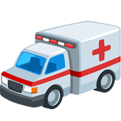 How Ambulance emoji looks on Messenger.