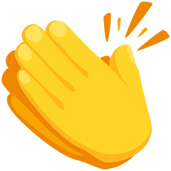 How Clapping Hands emoji looks on Messenger.
