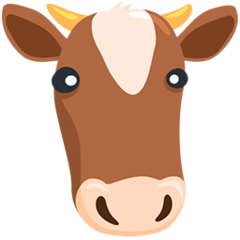 How Cow Face emoji looks on Messenger.