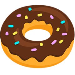How Doughnut emoji looks on Messenger.