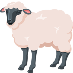 How Ewe emoji looks on Messenger.