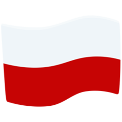 How Flag: Poland emoji looks on Messenger.