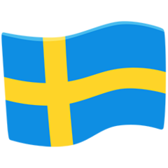How Flag: Sweden emoji looks on Messenger.
