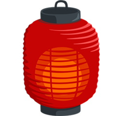 How Red Paper Lantern emoji looks on Messenger.