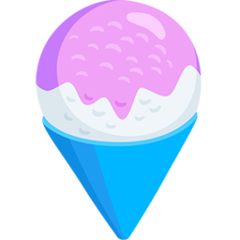 How Shaved Ice emoji looks on Messenger.