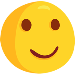 How Slightly Smiling Face emoji looks on Messenger.