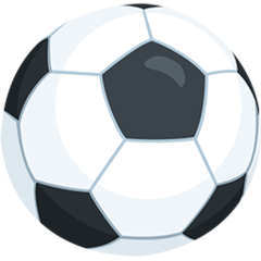 How Soccer Ball emoji looks on Messenger.