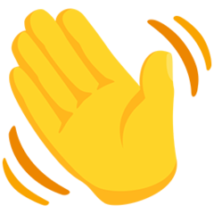 How Waving Hand emoji looks on Messenger.