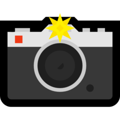 How Camera with Flash emoji looks on Microsoft.