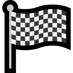 How Chequered Flag emoji looks on Microsoft.