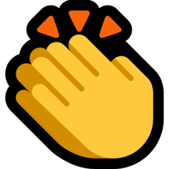 How Clapping Hands emoji looks on Microsoft.