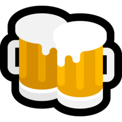 How Clinking Beer Mugs emoji looks on Microsoft.