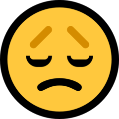 How Disappointed Face emoji looks on Microsoft.