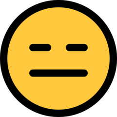How Expressionless Face emoji looks on Microsoft.