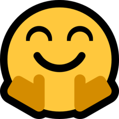 How Hugging Face emoji looks on Microsoft.