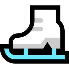 How Ice Skate emoji looks on Microsoft.