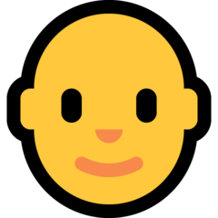 How Man: Bald emoji looks on Microsoft.